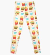 Burger Buddies Muster zu wiederholen Leggings