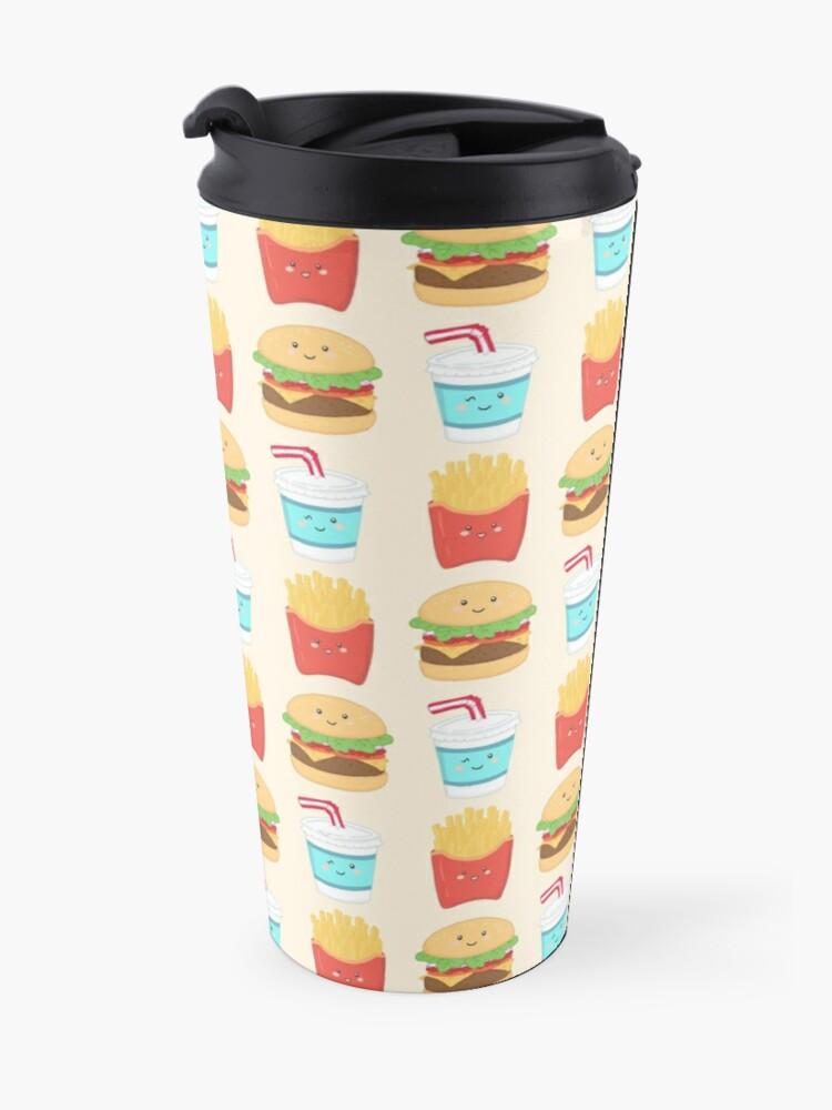 Alternate view of burger buddies repeating pattern Travel Mug