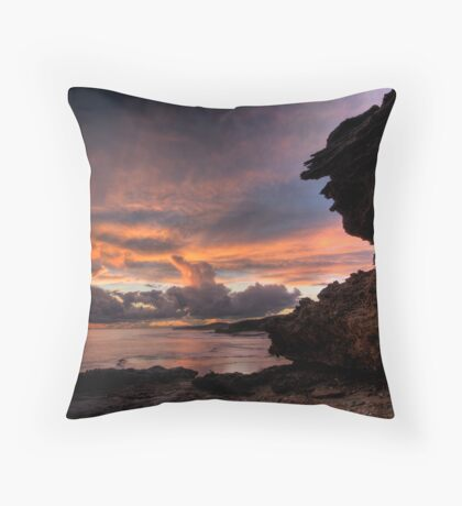 Thunderstorm Sunset Throw Pillow