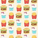 «Burger compinches repitiendo el patrón» de Calista Douglas