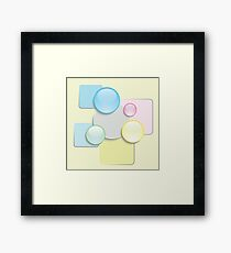 abstract glass icons Framed Print