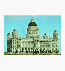 Port of Liverpool Building (Digital Art) Photographic Print