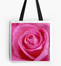 Macro Photography - Pink Rose Tote Bag