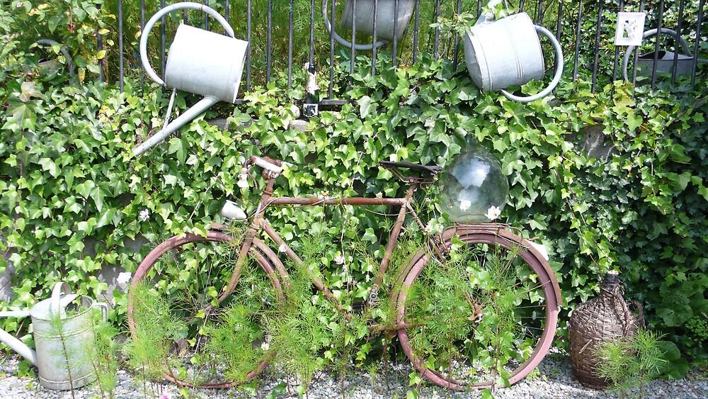 Bike in France by Linda Bretherton