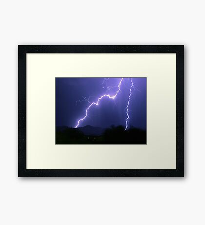 Dual Strike Framed Print