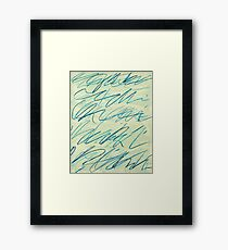 """CY TWOMBLY, """"ROMAN NOTES VI"""", 1970 Framed Print"""