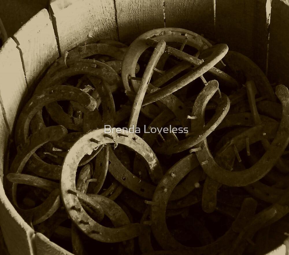 sepia horseshoe barrel by Brenda Loveless