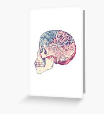 Trippy Skull Grateful Dead Greeting Card