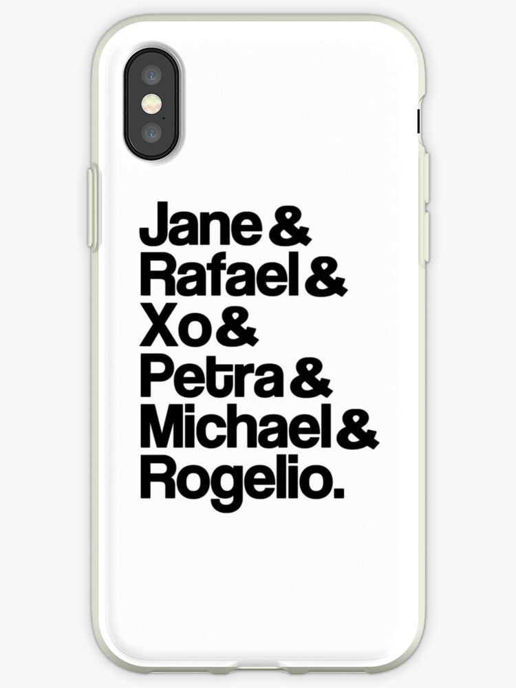 new style f147e 97843 'Jane The Virgin Characters' iPhone Case by dom e.