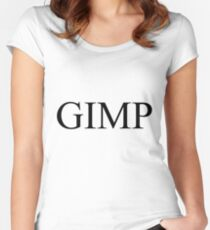 GIMP Women's Fitted Scoop T-Shirt