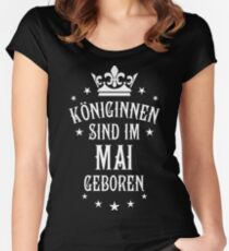 Königinnen sind werden im Mai geboren Geburtstag Women's Fitted Scoop T-Shirt