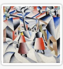 Kazimir Malevich - Morning in the Village after a Snowstorm (1913) Sticker