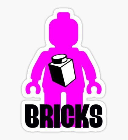 Minifig with Brick Sticker