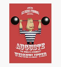 AUGUSTE STROMBOLI THE WEIGHTLIFTER Photographic Print