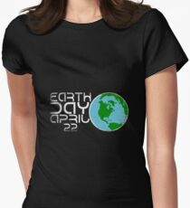 Earth Day April 22 Grunge Look Womens Fitted T-Shirt