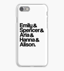 Pretty Little Liars Characters iPhone Case/Skin