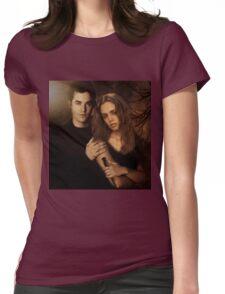 Xander Harris and Faith Lehane - Buffy the Vampire Slayer Womens Fitted T-Shirt