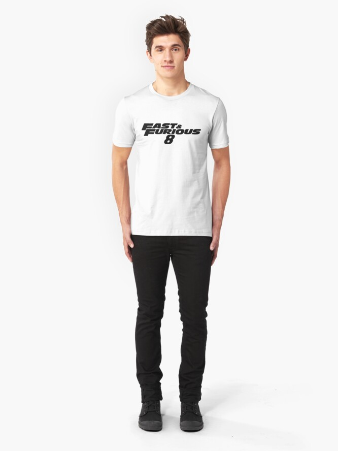Alternate view of Fast and Furious 8 (Black) Slim Fit T-Shirt