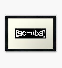 Scrubs White Framed Print