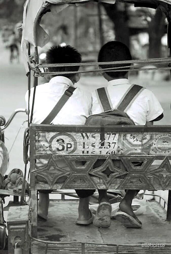 school bus by elleboitse