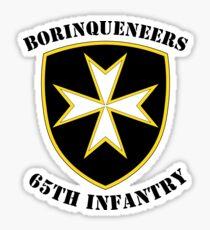 Borinqueneers - 65th Infantry Sticker