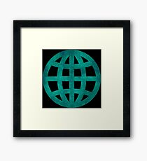 Green Globe Framed Print