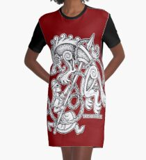 Shieldmaiden Huntress Graphic T-Shirt Dress