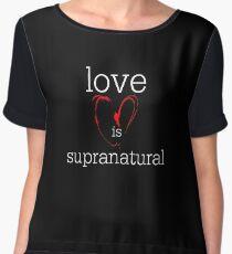 love is supranatural Women's Chiffon Top