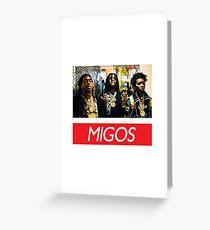 Migos v4 Greeting Card