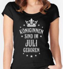 Königinnen sind werden im Juli geboren Geburtstag Women's Fitted Scoop T-Shirt