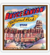 Bryce Canyon National Park Utah -The Cathedral Sticker
