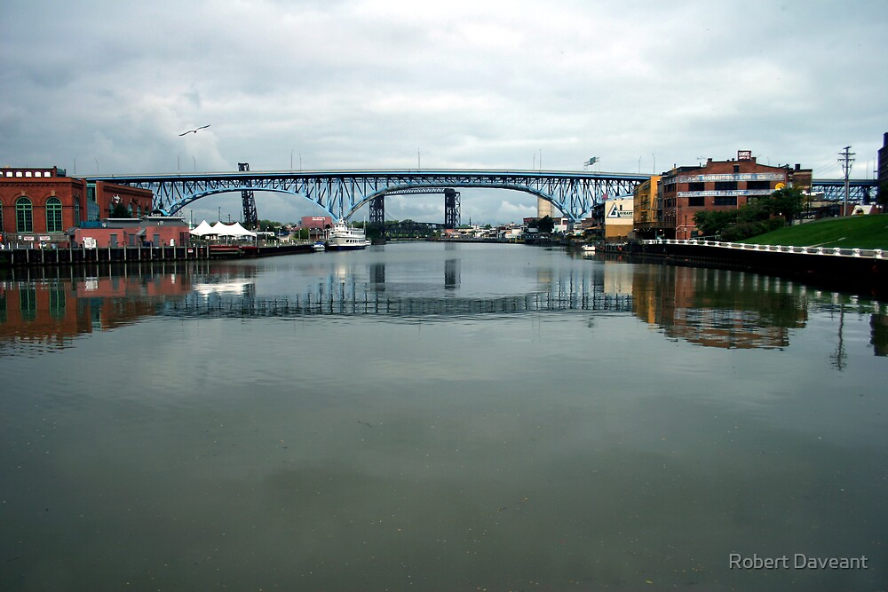 'The Flats', Cleveland Ohio by Robert Daveant