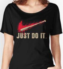 Negan Lucille Baseball Bat Zombie Fan Eeny Meeny Miny Moe Women's Relaxed Fit T-Shirt