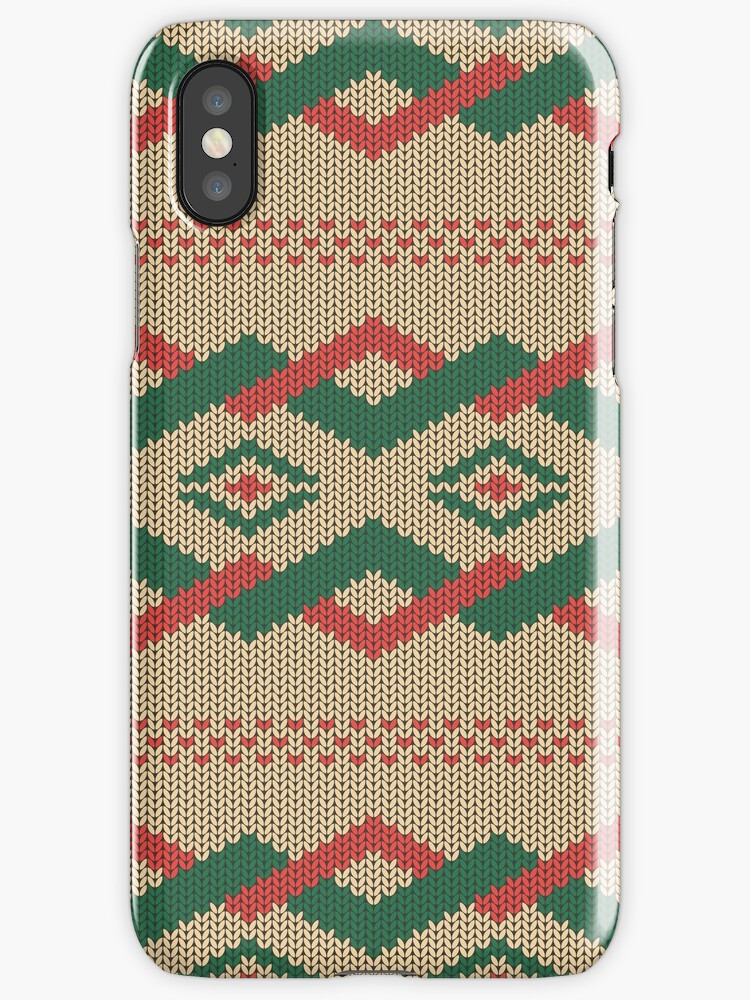 Knitted Pattern Iphone Cases Covers By Doba Redbubble