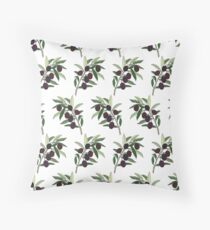 black olive pattern Throw Pillow