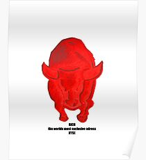 Bull RICH the worlds most exclusive adress NYSE Poster