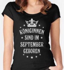 Königinnen sind werden im September geboren Geburtstag Women's Fitted Scoop T-Shirt