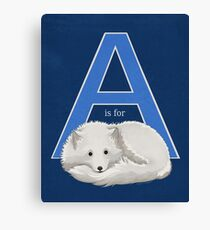 A is for Arctic Fox Canvas Print