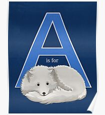 A is for Arctic Fox Poster