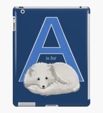 A is for Arctic Fox iPad Case/Skin