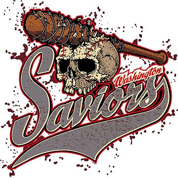Washington Saviors Negan Lucille Baseball Bat T Shirt Zombies by 2stevos