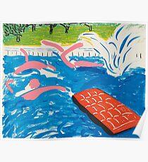 DAVID HOCKNEY, Afternoon Swimming, 1980 Poster
