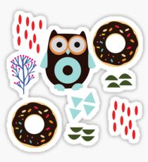 Owls and Donuts. Sticker