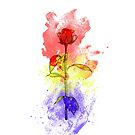 Paint Splattered Rose  by whimsystation