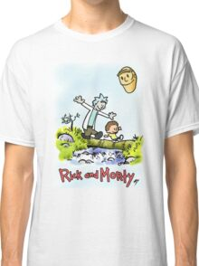 CALVIN AND HOBBES & RICK AND MORTY Classic T-Shirt