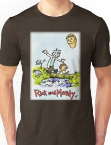 CALVIN AND HOBBES & RICK AND MORTY Unisex T-Shirt