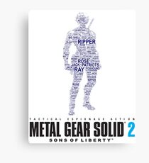 Metal Gear Solid 2 - Sons of Liberty - Raiden Typography  Canvas Print