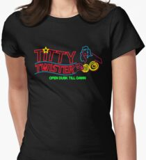 Titty Twister - Neon Revamped HD Women's Fitted T-Shirt
