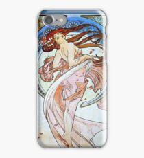 Alphonse Mucha Art Nouveau Beautiful Woman iPhone Case/Skin