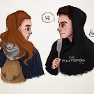 Chris and Eva by lunnorart